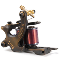 Brass tattoo machine 10/12 wrap coil tattoo machine for shader liner